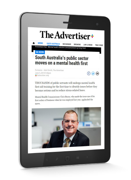 Commissioner Chris in the Advertiser Online
