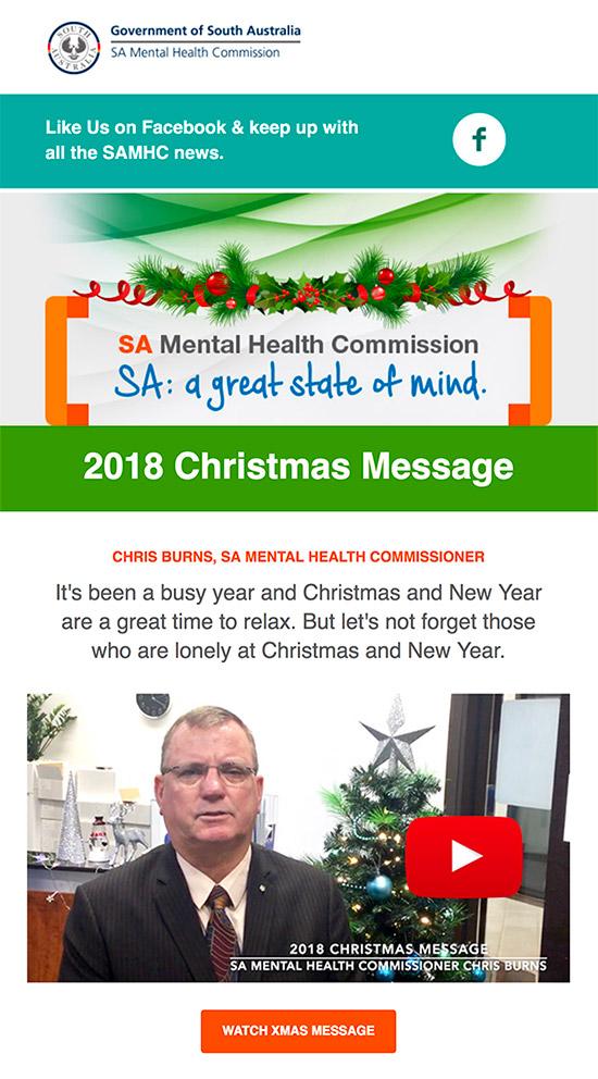 2018 Christmas Message eNews