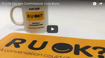 R U OK Day with Commissioner Chris Burns