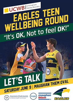 """Eagles Teen Wellbeing Round – """"It's OK, Not  to feel OK!"""""""
