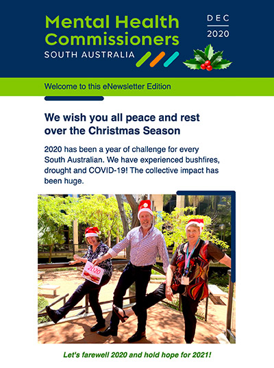 We wish you all peace and rest over the Christmas Season: eNews December 2020