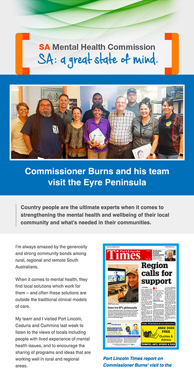 Commissioner Burns and his team visit the Eyre Peninsula – Featured Story
