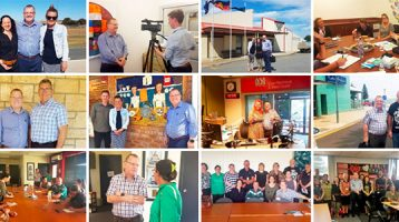 SA Mental Health Commissioner Chris Burns and the team head to Eyre Peninsula