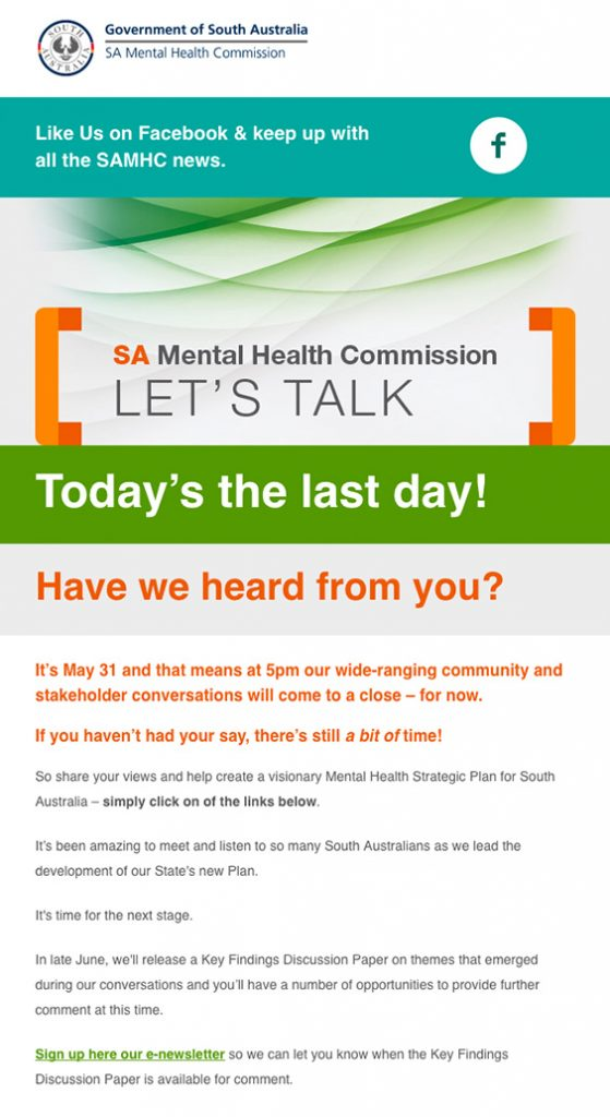 Today's the last day! Have we heard from you? – eNewsletter