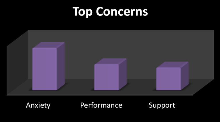 Top Concerns: Anxiety, Performance, Support