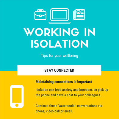 Working in Isolation Infographic